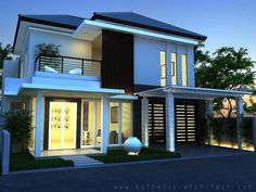 Gambar Rumah Minimalis Modern 2 Lantai Hook - Desain | Interior ...