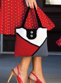 Color-Block Bag - free crochet pattern