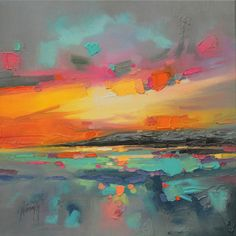 Paintings by Scott Naismith Abstraction of the Scottish landscape.