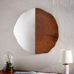 Tree Ring Wall Mirror #westelm Bedroom, hallway or living room. I love this!