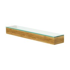 Discover the Wireworks Slimline Glass Shelf - Arena Bamboo at Amara