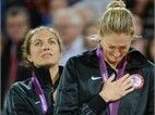 Beach Volleyball: Women's Medal Ceremony - Beach Volleyball gold medalists Misty May-Treanor and Kerri Walsh