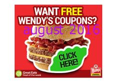 Wendys Coupons PROMO expires May 2020 Hurry up for a BIG SAVERS Wendy 's is a nationwide fast - food restaurant. Free Printable Coupons, Free Printables, Wendys Coupons, Dollar General Couponing, Coupons For Boyfriend, Coupon Stockpile, Love Coupons, Grocery Coupons, Extreme Couponing
