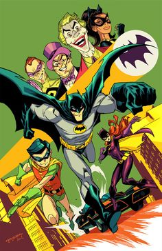Batman '60's TV series - As an animated cartoon.