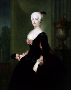 """""""Frédérique-Louise of Prussia, Margravine of Brandenburg-Ansbach"""" by Antonie Pesne (1743)"""