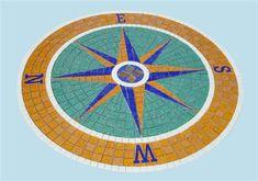 Peacock Mosaic Pattern | AquaticGlassMosaics