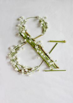 Ampersand - Expressive Typeface - Baby's Breath by Keziah Chong, via Behance Typography Letters, Typography Design, Hand Lettering, Font Art, Food Typography, Typography Prints, Floral Font, Arte Floral, Floral Letters