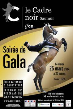 Affiche Gala d'ouverture 2014 #cadrenoir #chevalannonce