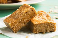Just four ingredients are needed to prepare these super-quick no-bake peanut buttery bars. Whip them together to enjoy for a speedy snack anytime of day.