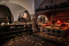 Luxurious rustic kitchen with medieval theme. #homeandstyleliving