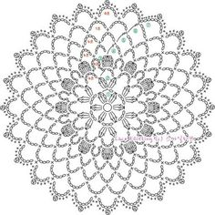 Wonderful Crochet a Solid Granny Square Ideas That You Would Love Crochet Mandala Pattern, Crochet Circles, Crochet Doily Patterns, Crochet Diagram, Crochet Chart, Crochet Doilies, Crochet Flowers, Crochet Stitches, Knitting Patterns