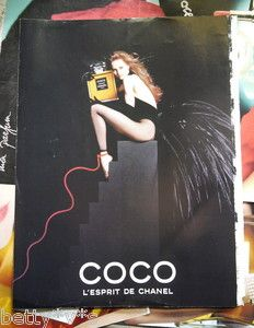 Vintage 1990s Coco Chanel perfume advert A4 size from magazine