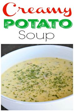 Creamy Potato Soup is what you want for dinner tonight, trust me. This soup was a huge hit in our family! #food #ontheblognow #foodbuzz #photooftheday #yum #comfortfood #feedfeed #recipe #foodpics #recipeoftheday #familyfav #EEEEEATS #truecooks #yummie #foodlove #foodies #homecooking #foodblog #truecooks #foodlover #foodforthought #foodisfuel #foodcoma #fooddiary #souprecipe #potatorecipe #dinner #weeknightdinner #onepotmeal #familydinnerideas #easyrecipes #bestrecipes #crockpot #slowcooker Cooking On A Budget, Budget Meals, Cooking Ideas, Budget Recipes, Pasta E Fagioli Soup, Creamy Potato Soup, Hamburger Soup, Italian Soup, Food Is Fuel