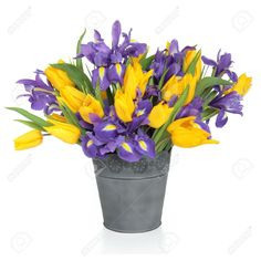 Purple yellow flower arrangement dos pinterest yellow white iris instead of purple mix of white and yellow tulips instead of all yellow yellow flower arrangementswhite mightylinksfo Gallery