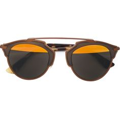 Dior round frame sunglasses (2.265 RON) ❤ liked on Polyvore featuring accessories, eyewear, sunglasses, glasses, sunnies, brown, round metal frame glasses, brown glasses, round sunglasses and metal-frame sunglasses