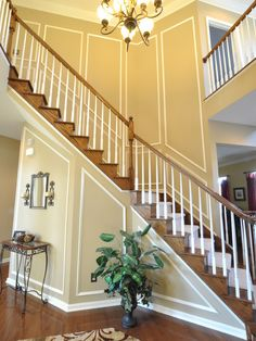 Trim Work On Stairs