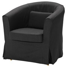 Bought this to put in my reading nook corner. Love that it's comfy but still has a slim profile and doesn't block the window with a super-tall back like many chairs I looked at. Just wish the chair cover didn't cost half the price of the chair! Seems a little ridiculous to have a $50 cover for a $99 chair. IKEA is weird like that on some things, though. EKTORP TULLSTA Chair - Idemo black - IKEA