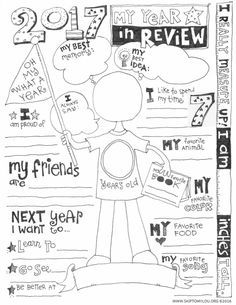 Free 2016 Year In Review Printable is the perfect way to record your child's year. It is fun to learn what they think about their year!