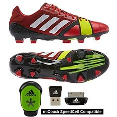 The red Adidas NitroCharge brings some color to the energy creating boots. Pick up yours today at soccercorner.com