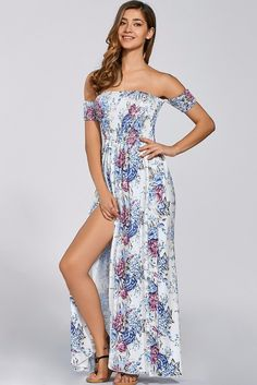 ab14a096d5a Chic Floral Bohemian Maxi Dress Floral Maxi Dress