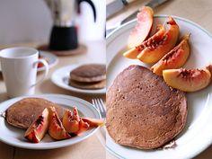 Buttermilk whole-wheat banana pancakes