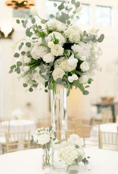 Image result for white centerpiece with branches