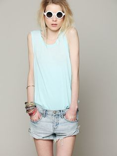 Free People We The Free Ombre Burnout Tank at Free People Clothing Boutique