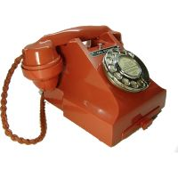 Bakelite UK Telephone--Red 312 Vintage Telephone (1955)