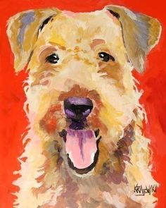 Hey, I found this really awesome Etsy listing at https://www.etsy.com/listing/55629165/airedale-terrier-art-print-of-original