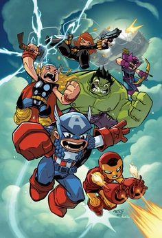 Chibi Avengers Assemble by Jon Sommariva