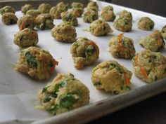 Chicken and Veggie Meatballs ready to be baked: Egg/Dairy/Gluten FREE!