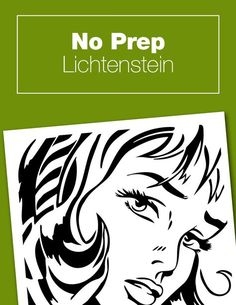 This no-prep Lichtenstein project is perfect to go along with your pop art unit study or Roy Lichtenstein art history lesson plans. Free printable activity that is quick and easy no-mess and no-prep, but super fun.