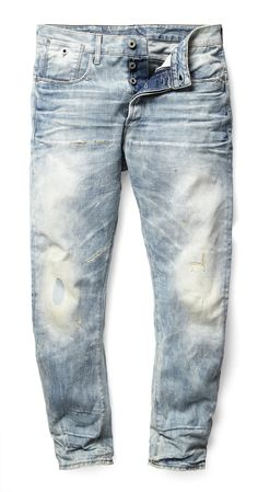The latest cut in the denim line, the Type C is constructed to push the boundaries of denim design. With a loose top block and elongated rear pockets, the Type C jean rethinks vintage details in a modern fit Ripped Jeans Style, Denim Jeans Men, Jeans Pants, Shorts, Men Trousers, Raw Denim, Denim Ideas, Denim Trends, Raw Clothing