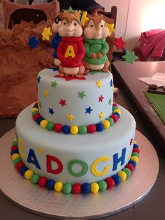 Awesome 14 Best Alvin The Chipmunks Cakes Images Alvin The Chipmunks Funny Birthday Cards Online Alyptdamsfinfo