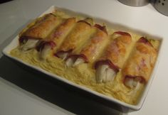 Witlof Ham & Kaas uit de oven.