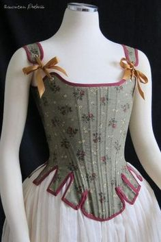 1780s Half-Boned Duchess Stays or Corset for 18th Century Costuming - via Americanduchess on Etsy by noelle