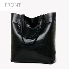 Classic Large Ladies Simply Designed PU Leather Tote