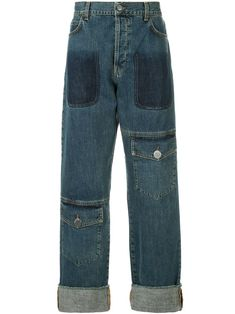 679874c4c0fb5 J.W.ANDERSON JW ANDERSON SHADED POCKET DETAIL JEANS - BLUE.  j.w.anderson   cloth