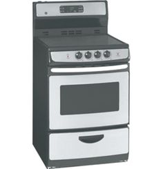 """JCAP760SMSS by General Electric Canada in Winnipeg, MB - GE 24"""" Free Standing Electric Self Clean Range Shop JS Furniture Gallery for all your appliance needs.  1725 Ellice Avnue, Winnipeg, http://furnitureandmore.ca"""