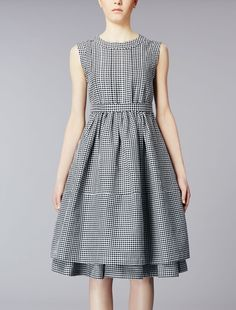Ramié and cotton dress, white - GINGER Max Mara