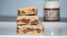 Chewy Chocolate Chip Cookies Bars | TheBestDessertRecipes.com