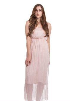 Abbino* Elfenhaftes Maxi-Seidenkleid, rosa