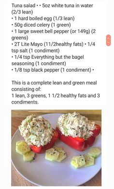 What's Cooking, Cooking Recipes, Lean And Green Meals, Sweet Bell Peppers, Lean Meals, Tuna Salad, Greens Recipe, Recipe For 4, What To Cook