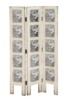 shabby white wash distressed 15 picture photo frame privacy screen room divider