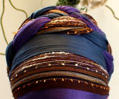 Wrapunzel: Double Braid - New York Bright with two 2n1s