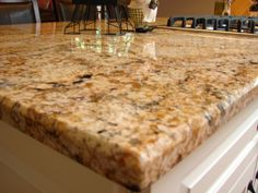 Crema Bordeaux Granite Installed Design Photos and Reviews ...