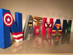 Wonderful Deco Chambre Garcon Super Heros that you must know, You're in good company if you're looking for Deco Chambre Garcon Super Heros Avengers Room, Avengers Birthday, Superhero Birthday Party, Marvel Avengers, Diy Letters, Wooden Letters, Boy Room, Kids Room, Video Game Decor