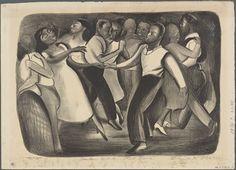 Elizabeth Olds Harlem Street Dance WPA Print 1937 Art Print Image Archive Print Image, Image Archive, Poster Prints, Art Prints, Street Dance, New York Public Library, African American History, Gravure, Black Art