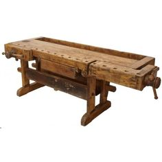 ANTIQUE Rustic Workbench. Will go home from Germany with one!