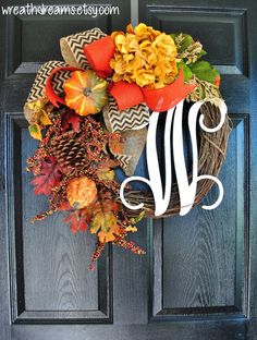 ONLY 18 LEFT! Fall Grapevine Wreath with Burlap. Fall  Wreath. Autumn Wreath. Winter Wreath. Door Wreath. Monogram Wreath. Grapevine Wreath.